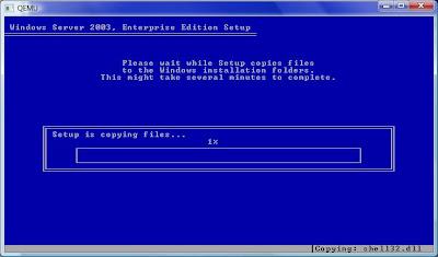 Copying files..