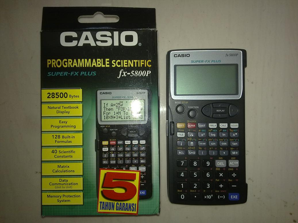 casio calculator fx 9750gii manual