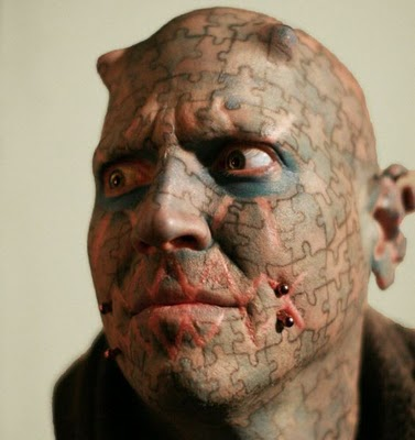 face tattoos. Insane Face Tattoos