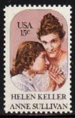 Helen Keller kaj ŝia instruisto Sullivan