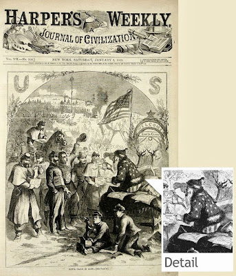 Thomas Nast draws Santa Claus for Harper's Weekly @ The Bloghorn