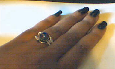 Steampunk Ring on my hand