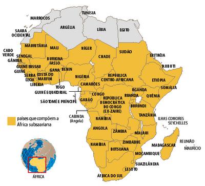 Mapa Politico Africa Capitales