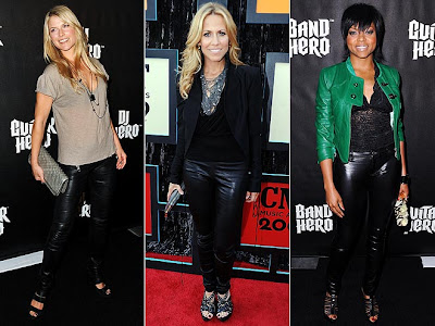 BLACK LEATHER PANTS: Ali Larter, Sheryl Crow and Taraji P
