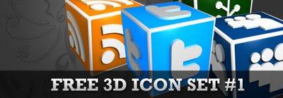 3D Social media icon set1