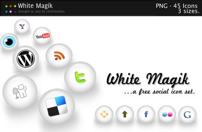 White Magik Social Icon Pack