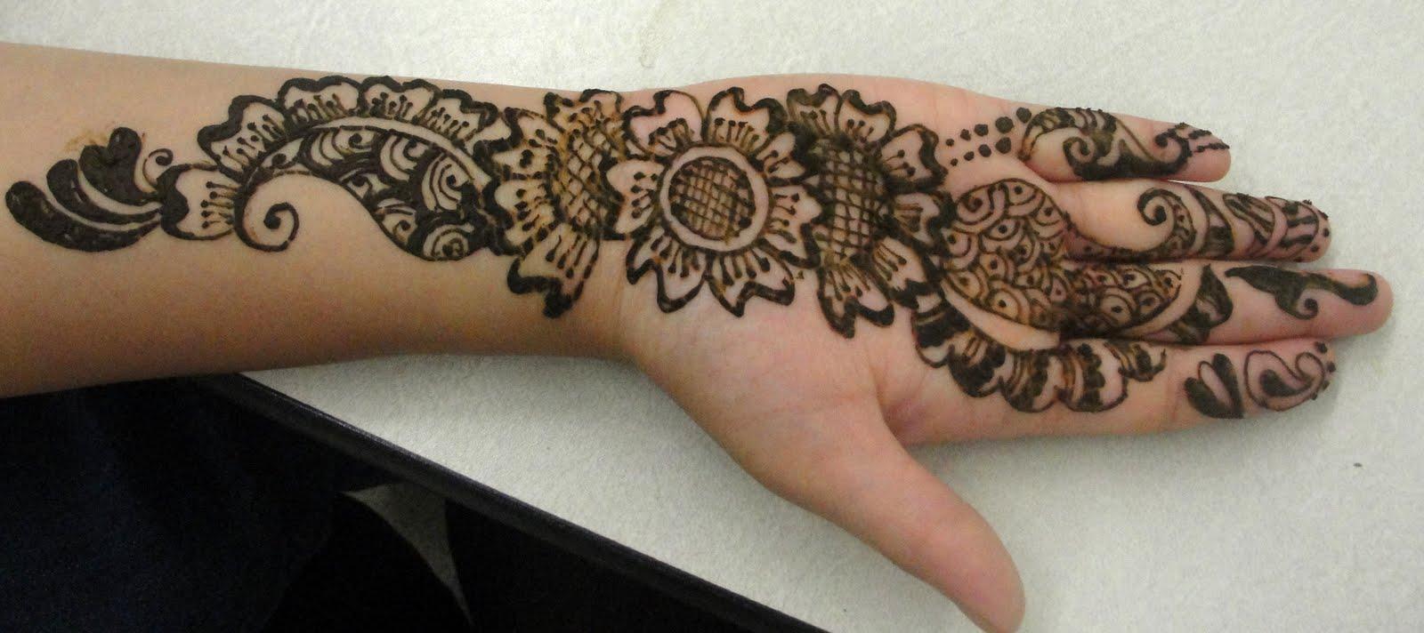 Flower Mehndi Designs Images : Red impression floral arabic mehndi henna design