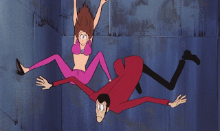 Lupin and Fujiko, both looking a little less cool calm & collected than usual