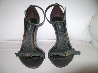 Sandália  Azul petróleo Nanni Rannieri - 37 - em couro