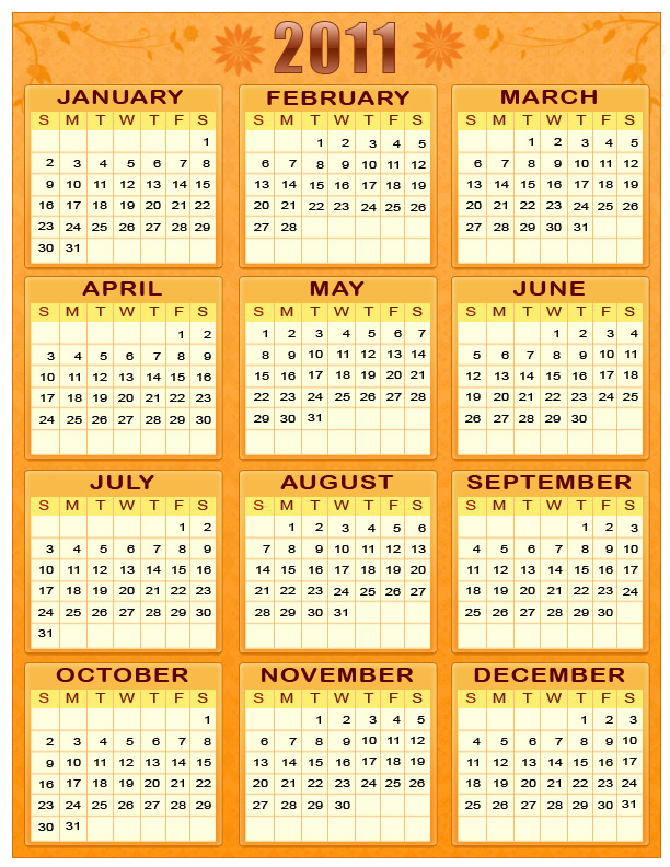 2011 calendar with holidays wallpaper. 2011 PRINTABLE CALENDARS WITH