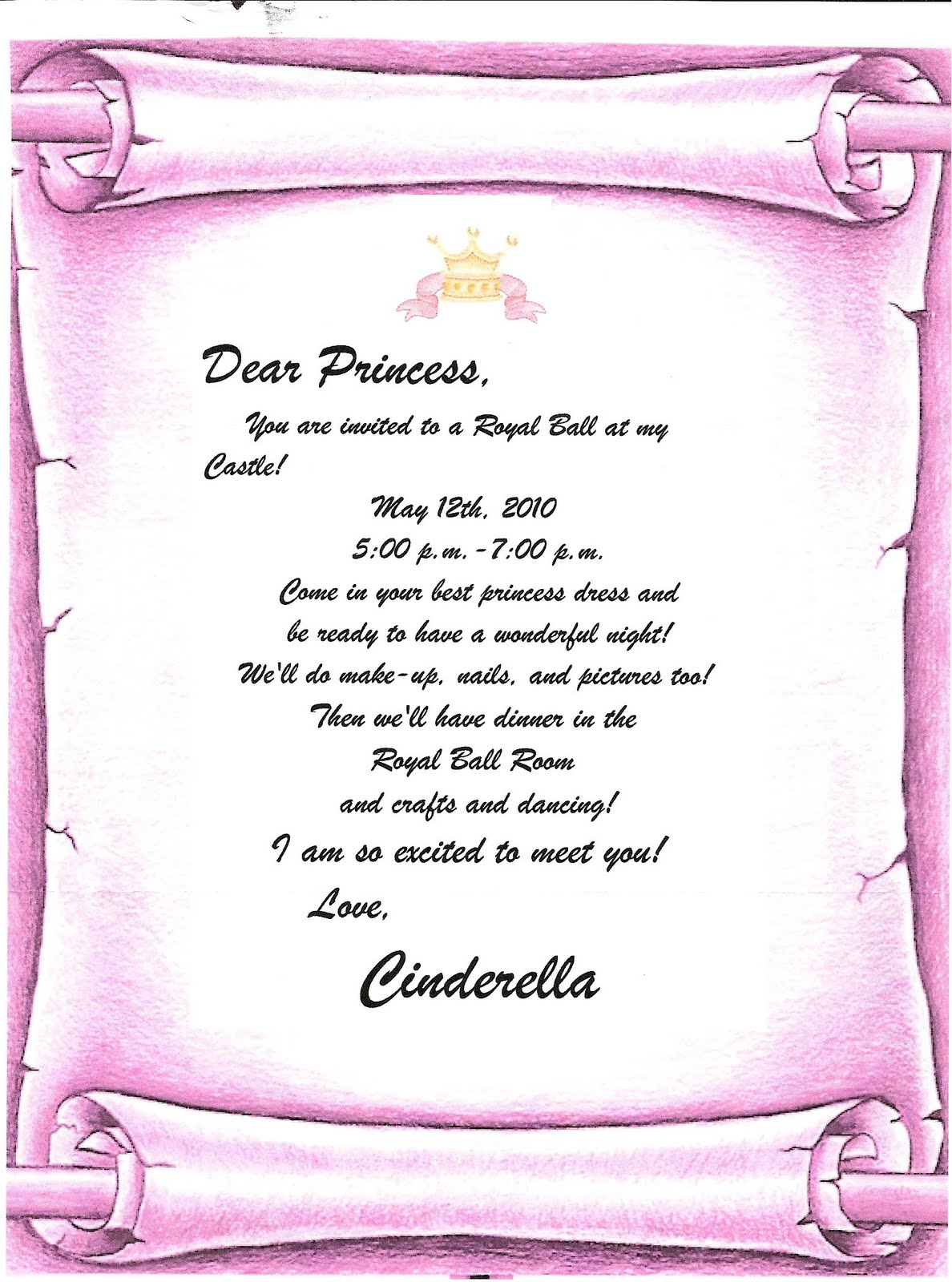 cinderella invitation to the ball template princess ball invitations