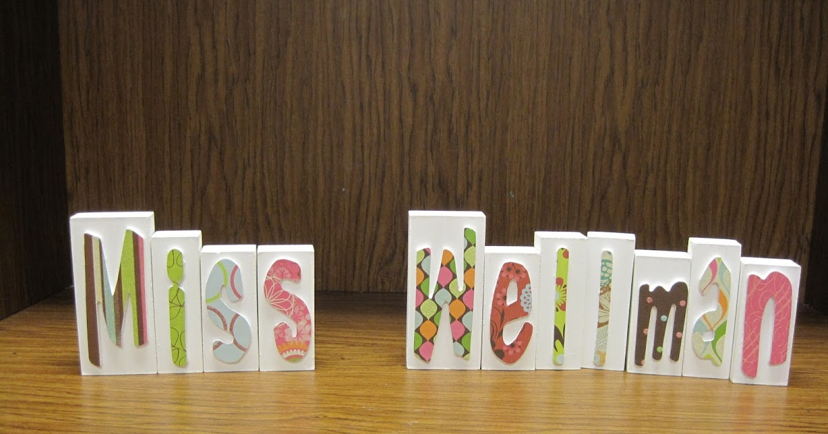 Crafts and crap teacher name blocks for Plain wooden blocks for crafts