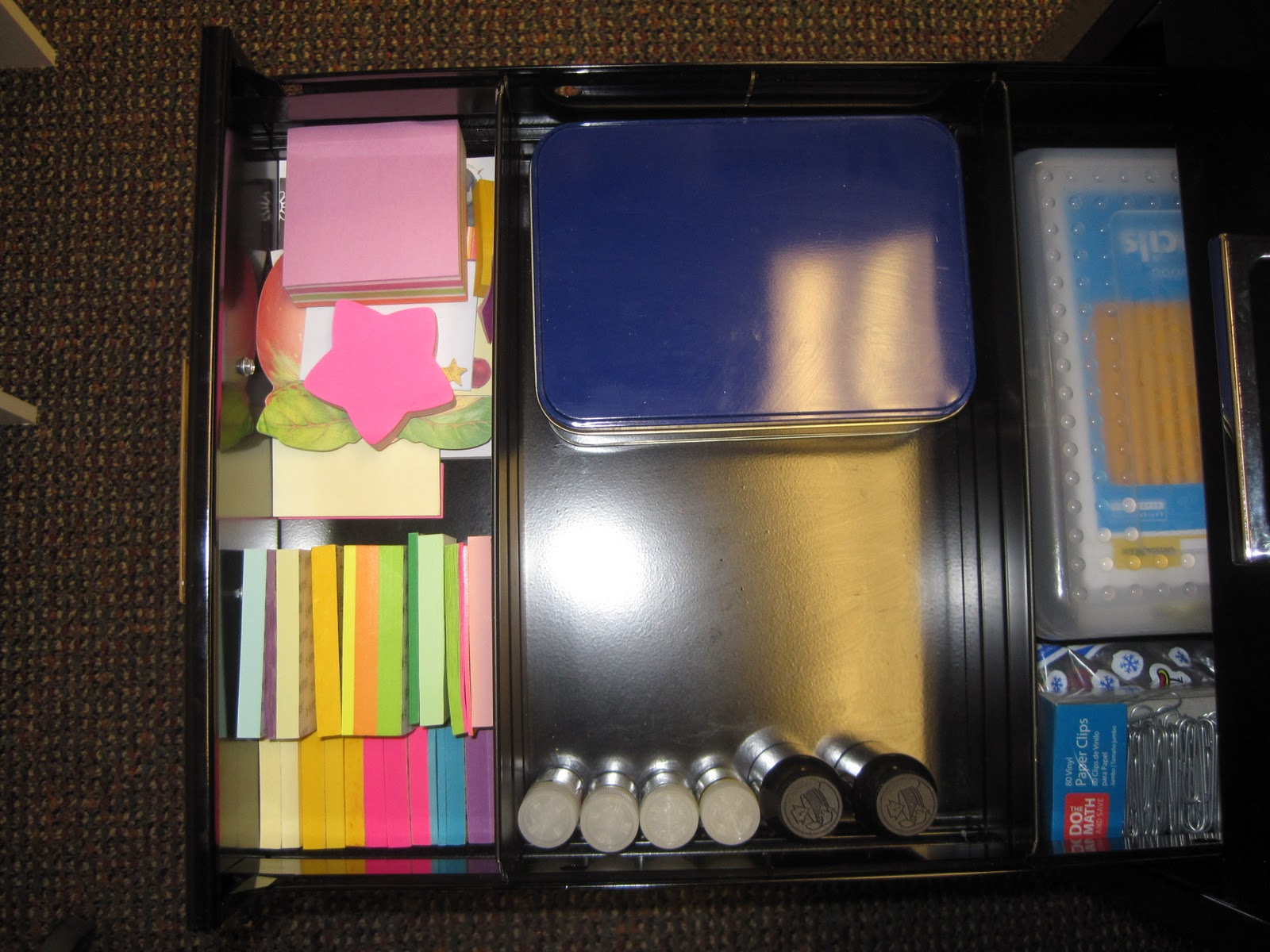Crafts And Crap Desk Organization
