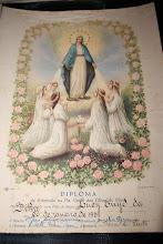 DIPLOMA RECEBIDO EM 1939 COMO FILHAS DE MARIA