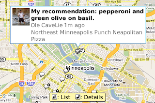 buzz3 cropped Blackberry users: Google Maps 4.0 brings search by voice, Buzz and more.