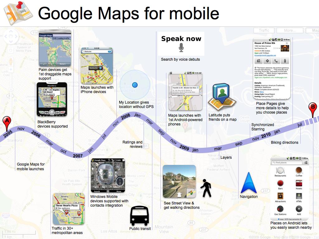 Google Maps en móviles