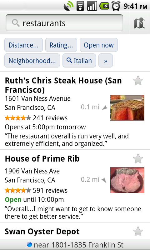New in Google Maps for Android: Updated reviews, search filters,