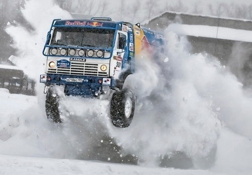 videos de camiones kamaz dakar nieve