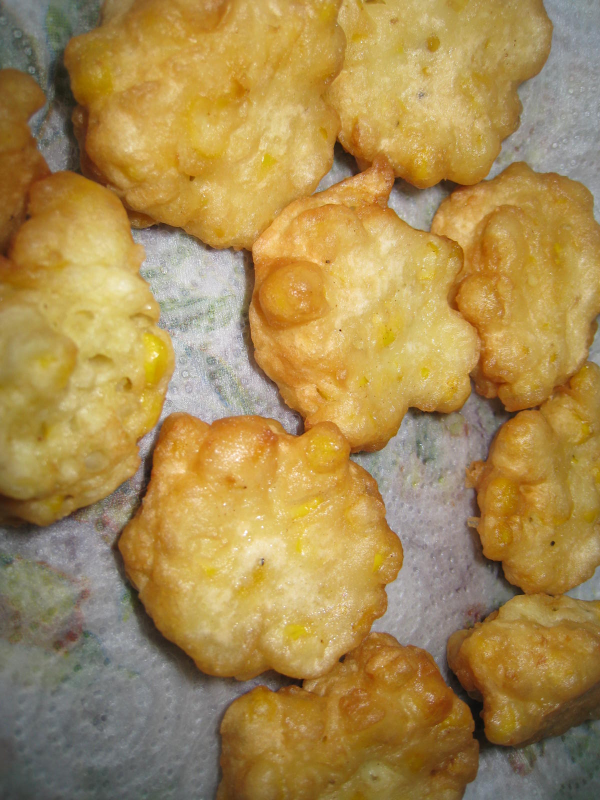Join us, pull up a chair: Corn Fritters