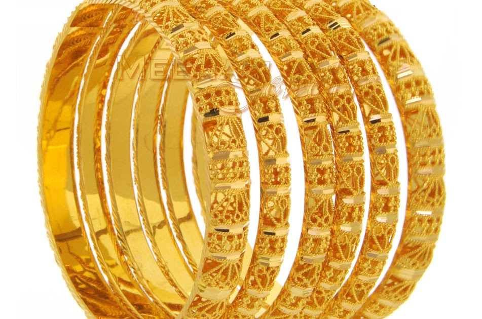 Wel e to the fashion world Gold Bangles