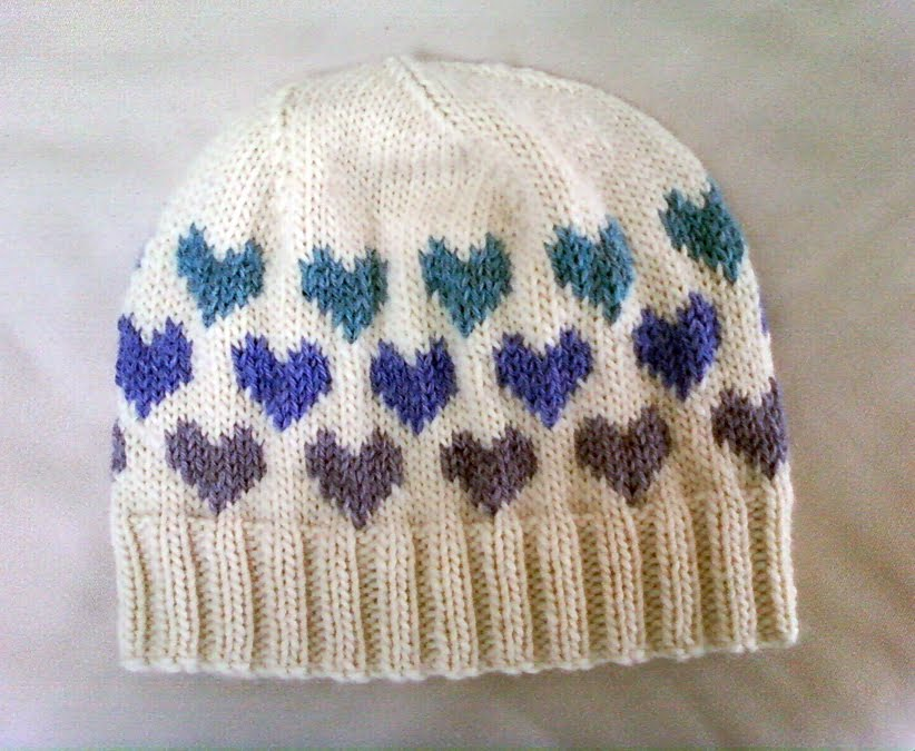 Knitting Pattern Hat With Hearts : LuluKnits: I Heart Knitting Hat
