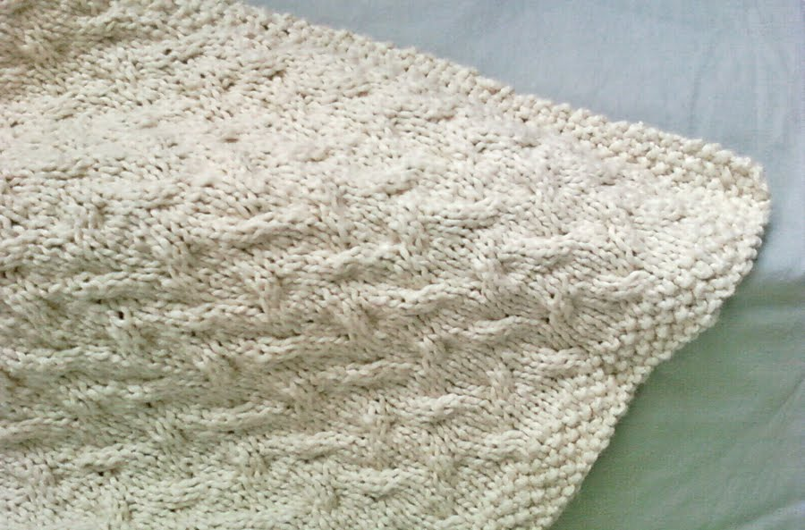 Cable Knit Baby Blanket Pattern Lesanismfo For