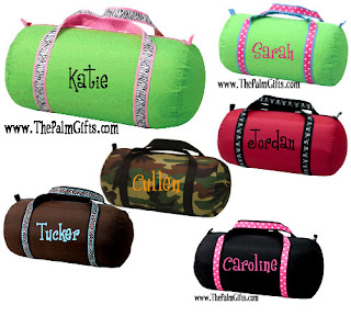Colorful personalized duffle bags - Great for kids AND s and