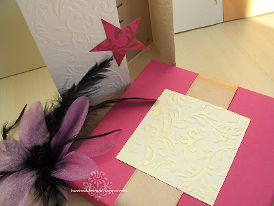 gold accent on invitation box