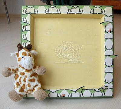 giraffe and mushroom shadow box for baby prints