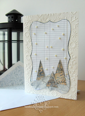 winter wonderland card and envelope