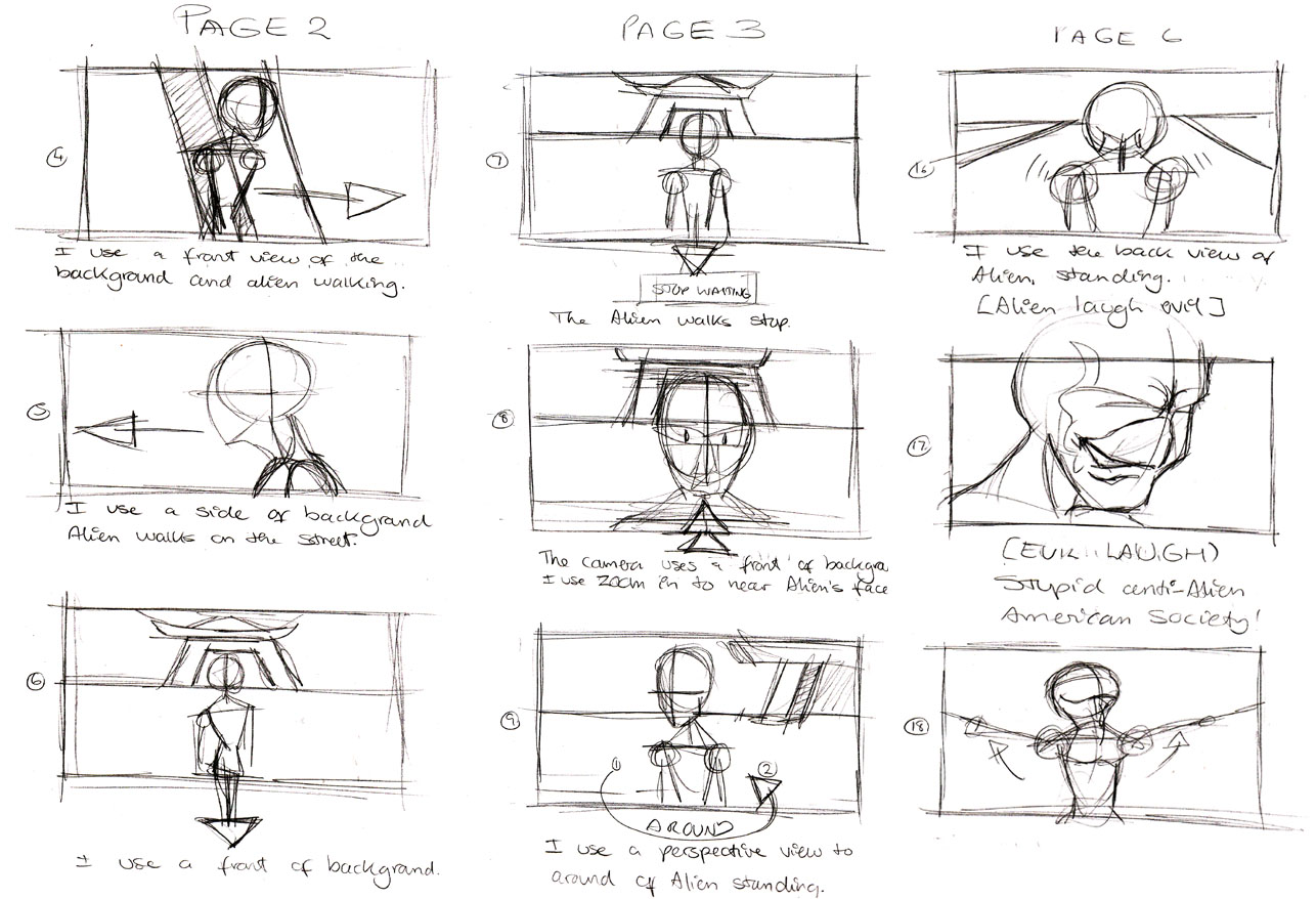 The Treehouse Storyboards  Mcshane Design  Kevin Mcshane Design