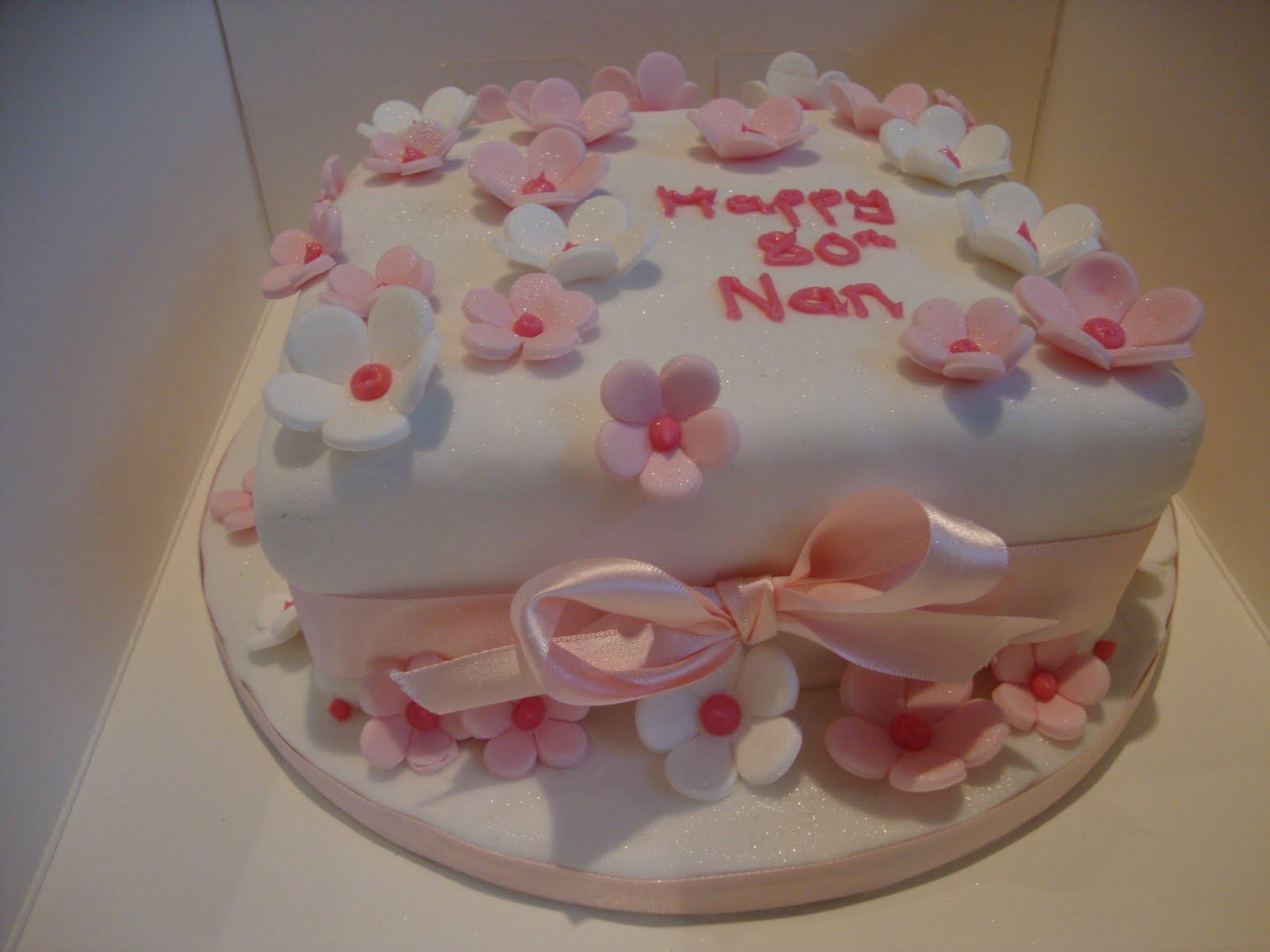 Mrs Gs Cakes Nans 80th Birthday Cake