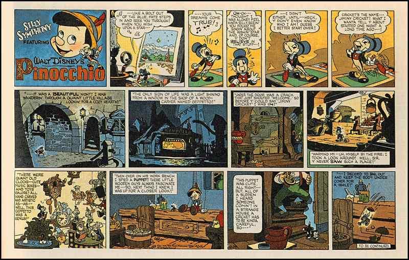 Disney and christmas comic strip