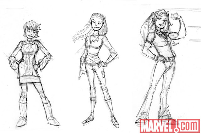 Wasp, Miss Marvel, She-Hulk