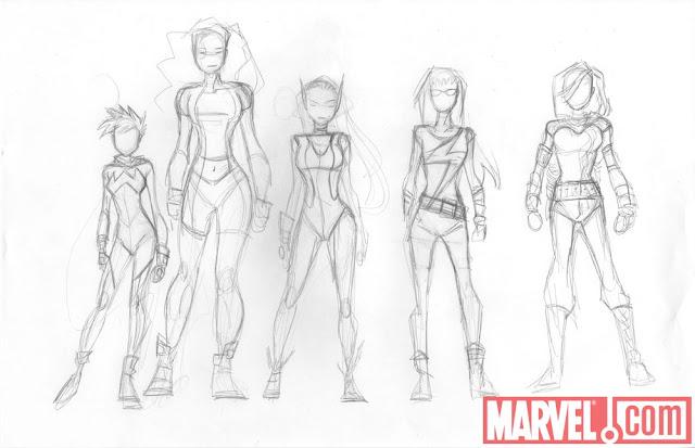 Marvel Her-Oes Sketchs