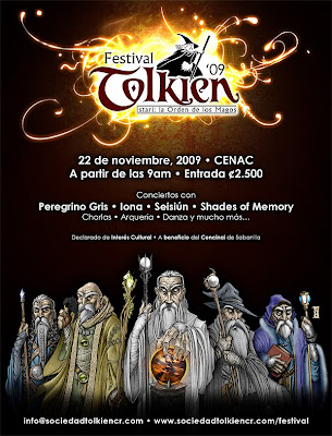 Festival Tolkien 2009 - Istari: la Orden de los Magos Afiche-v1-web