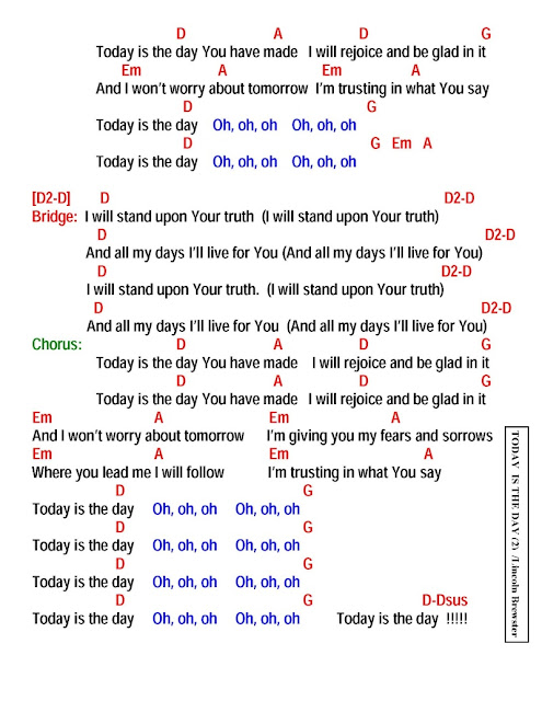 Today Is The Day Lyrics And Chords Faith And Music