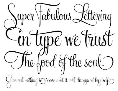 Lovely June Design Co.: font crush: feel script