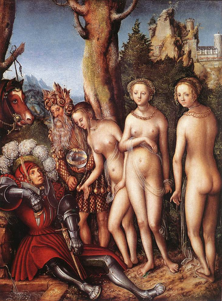 Lucas Cranach, The Judgement of Paris Kimbell Art Museum, Fort Worth