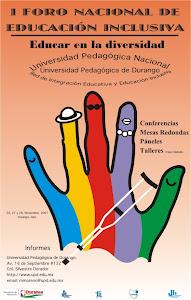CARTEL DEL PRIMER FORO NACIONAL DE EDUCACIÓN INCLUSIVA