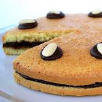 Torta Genovese con crema di banana e cioccolato