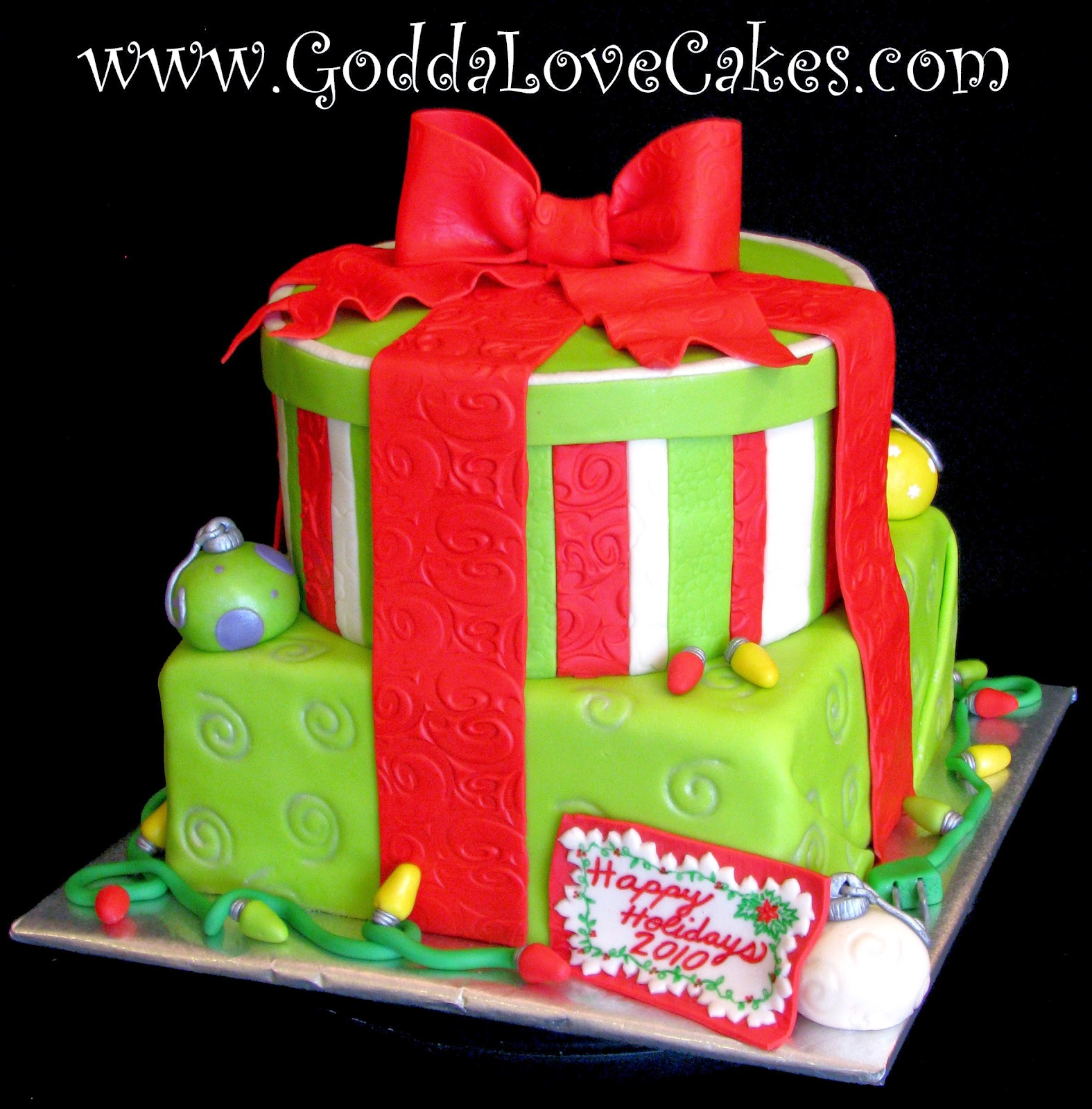 Christmas Cake Ideas Presents : Christmas Present Cake Godda Love Cakes