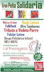 Sábado 6 de Diciembre Peña Solidaria