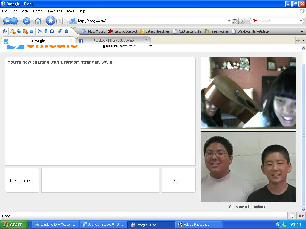 Omegle live chat vid