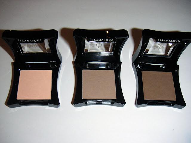 Illamasqua eyeshadow in Servant, Heroine, Jules