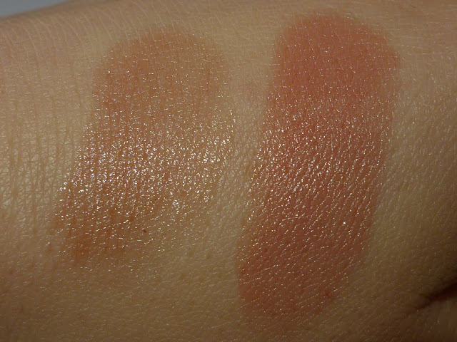 UNE Sheer Lips Balm in S12 and UNE Lip-toned Colour in L02 swatches