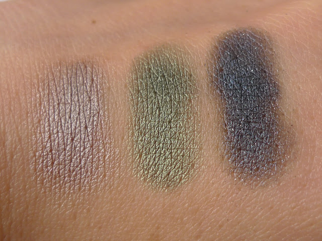 Este Lauder Pure Color eyeshadows swatches