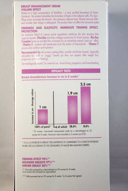 PUPA Multivitamin AEF Breast Enhancer back of box