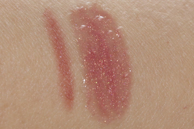 Clinique Holiday 2010 Strawberry Fudge lip swatches