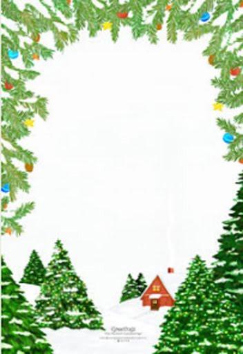 Carta a los Reyes Magos o a Papá Noel enmarcada de abeto decorado y